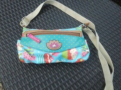 Lily Bloom Cupcake Oil Cloth Cross Body, Messenger Bag • 10.50£