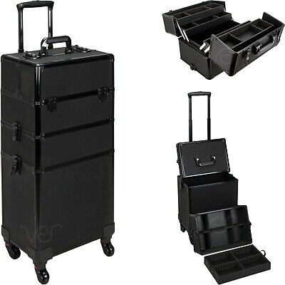 $199.99 • Buy Aluminum Rolling Makeup Case Cosmetic Professional Organizer Trolley Lockable