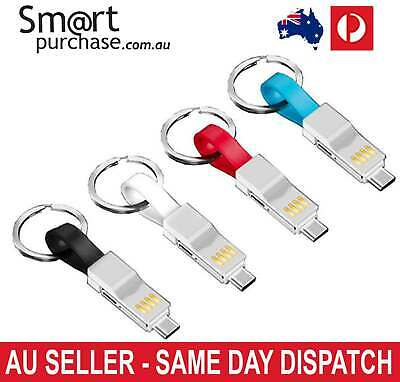 AU12.69 • Buy 3 In 1 USB Magnetic Keyring Charging Cable Charger For IPhone IPad Type C Cord V