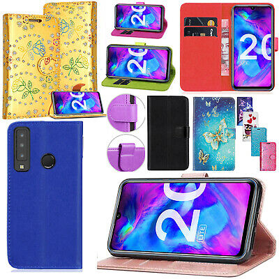 For Honor 20 Honor 20 Lite PU Leather Wallet Flip Magnetic Kickstand Case Cover • 3.99£