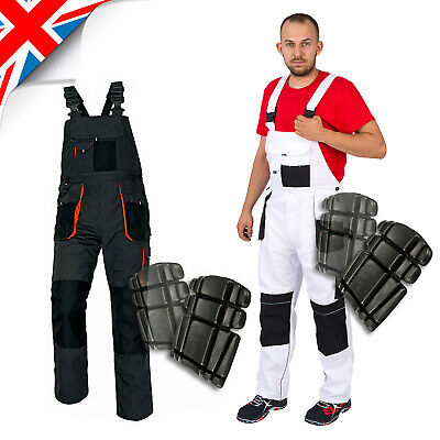 £18.25 • Buy MEN WORK TEOUSERS Bib & Brace Overalls Dungarees Grey Or White For Painting New