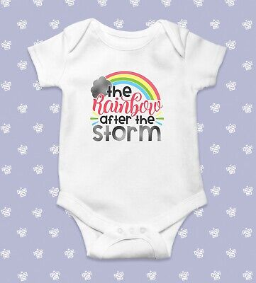 The Rainbow After Storm Baby Bodysuit | Baby Shower Gift | Cute Baby Clothes | F • 7.99£