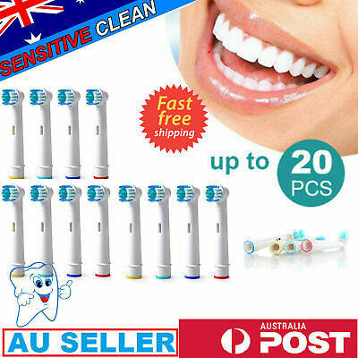 AU11.99 • Buy 20X Electric Replacement Braun Toothbrush Heads Oral B Compatible Brush Generic