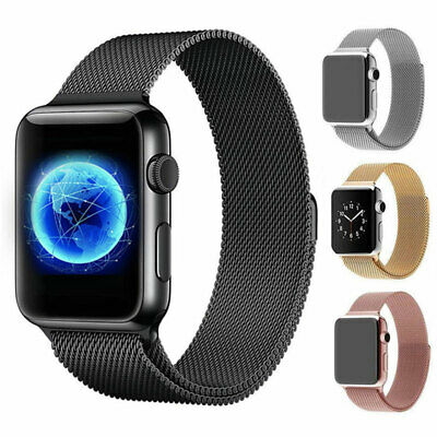 $ CDN6.56 • Buy Magnetic Milanese Band Strap For Apple Watch Series 5 4 3 2 38mm 42mm 40mm 44mm
