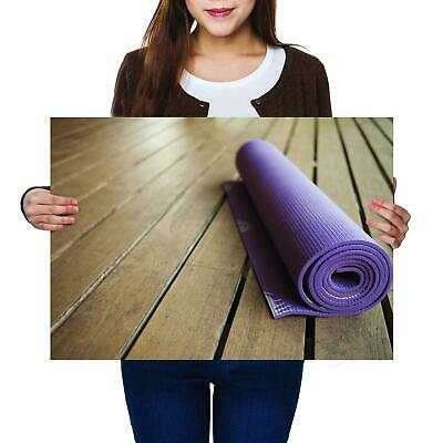 A2 | Yoga Mat Fitness Exercise - Size A2 Poster Print Photo Art Cool Gift #14513 • 11.99£