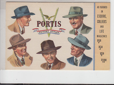 Linen Advertising - Portis Victory Style Men's Hats - Clothing - Stanford Mont. • 14.46£