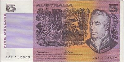 AU25.42 • Buy Australia Banknote P. 44e-2869 5 Dollars Sig. Johnston-Fraser, AU WE COMBINE