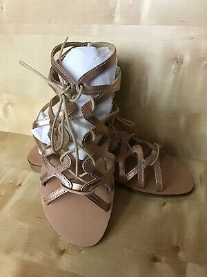 DUNE Leather Strappy Gladiator Sandals In Rose Gold NEW UK5 • 24.99£
