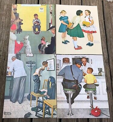 $ CDN15.95 • Buy Norman Rockwell 14x11 Set Of 4 Prints From The Saturday Evening Post 1972 Sealed