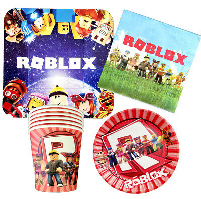 $12.99 • Buy Roblox Cup Plate Napkins Table Cover Balloon Banner Decoration Supplies Topper