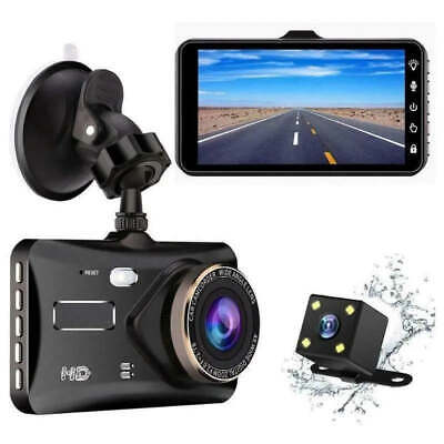 AU55.60 • Buy 4.0'' Touch FHD 1080P Dual Lens Car DVR Reversing Camera Video Dash Cam Recorder