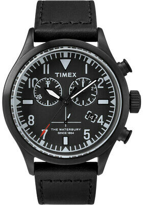 $109.90 • Buy TIMEX 43mm TODD SNYDER Red Wing Leather Watch The Waterbury Chronograph Black