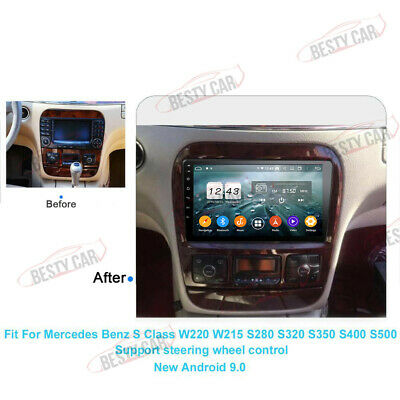 $445 • Buy 9'' Android 9.0 Car NAV Stereo GPS Radio For Mercedes-Benz S Class W220 W215 DSP
