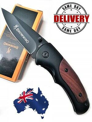 AU15.99 • Buy Browning FA15 Small Pocket Folding Knife Hunting Camping Outdoor Survival Knife