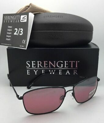 $249.95 • Buy SERENGETI PHOTOCHROMIC Polarized Sunglasses CORLEONE 8417 Black Aviator W/Sedona