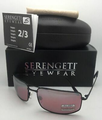 $249.95 • Buy SERENGETI PHOTOCHROMIC Polarized Sunglasses TREVISO 8440 PRI Black+Sedona Mirror