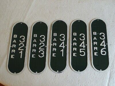 $120 • Buy 5 Barre Massachusetts Mass MA Bicycle License Plate Tags NOS