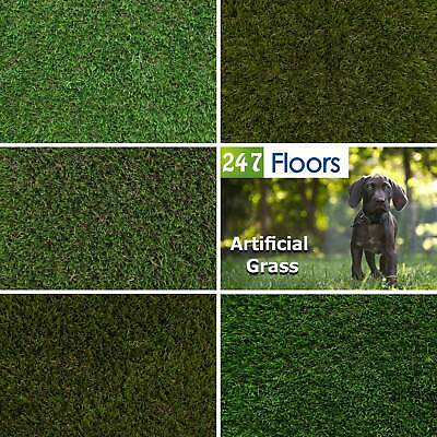 £0.99 • Buy CLEARANCE Quality 5m Artificial Grass 5m Wide Fake Artificial Grass Astro Turf