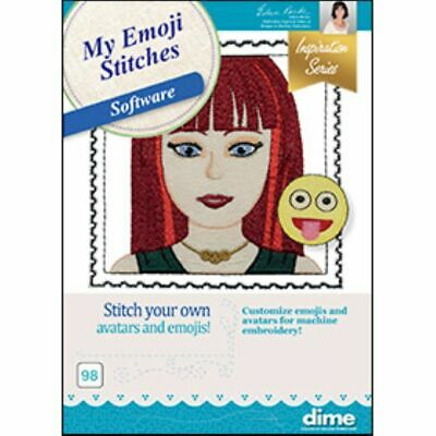 $199.99 • Buy DIME Designs In Machine Embroidery My Emoji Stitches Embroidery Software New