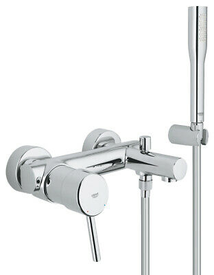£169 • Buy Grohe Concetto Single Lever Bath Shower Mixer Tap Wall Mounted New Modern Style