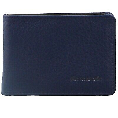 AU33 • Buy Pierre Cardin Mens RFID Slim Wallet Genuine Italian Leather W Gift Box - Navy