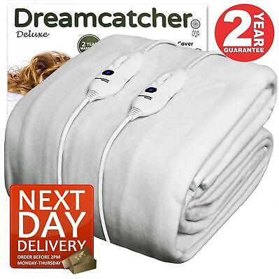 £41.95 • Buy Dreamcatcher King Size Fitted Heated Electric Blanket With Dual Controls Bed