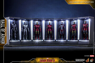 $ CDN402.33 • Buy Ready! Hot Toys Iron Man 3 - Miniature Figure Hall Of Armor Full Set Of 7 New