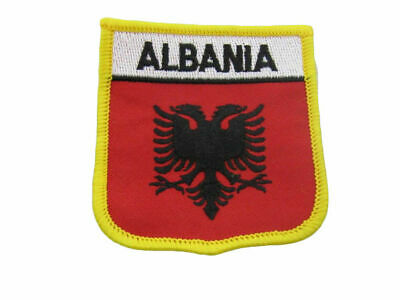 $ CDN9.27 • Buy Albania Albanian Country Flag Iron On Patch