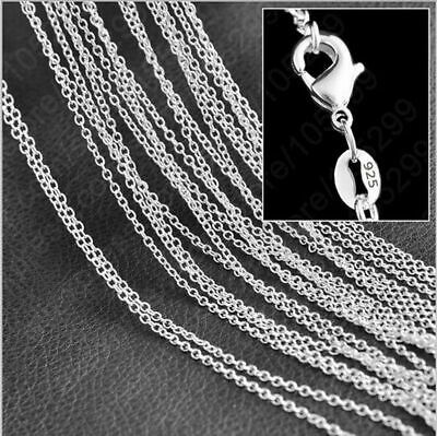$ CDN1.17 • Buy 925 Silver Sterling Rolo  O  Link Chain Necklace 16-30  Fashion Jewelry Gift Lot