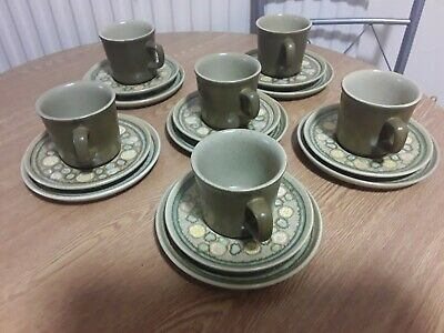 FRANSISCAN REFLECTIONS Trio,s Cup Saucer And Side Plate X 6 Vgc • 27.50£