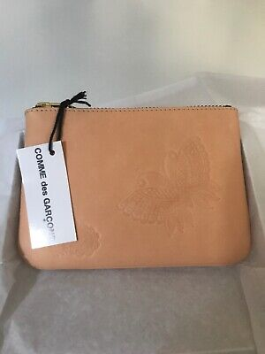 $110 • Buy Comme Des Garcons Beige Butterfly Coin Purse