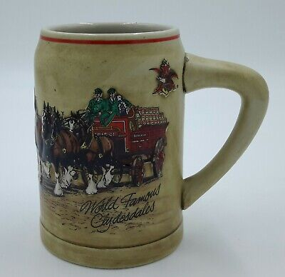 $ CDN50.13 • Buy 1987 Budweiser World Famous Clydesdales CS74 Stein First In Clydesdales Series