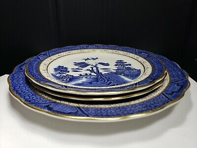 $ CDN34.19 • Buy Royal Doulton Majestic Collection, Booths Real Old Willow  Bread & Salad Plates