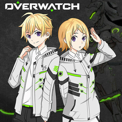 $ CDN66.71 • Buy OW Overwatch Genji Cosplay Costume Unisex White Coat With Hoodie