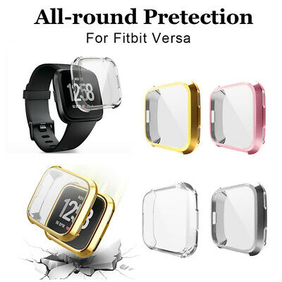 $ CDN1.39 • Buy 1PC Fitbit Versa Screen Protector TPU Plated Soft Full Cover Case Bumper Shell