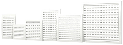 £6.69 • Buy White Air Vent Grille With Shutter / Close And Open / Ducting Ventilation Cover