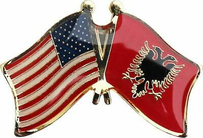 $ CDN7.67 • Buy USA American Albania Country Friendship Flag Bike Motorcycle Hat Cap Lapel Pin