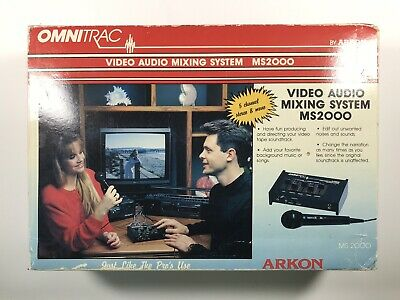 £21.79 • Buy Omnitrac MS2000 Video-Audio Mixing System Arkon 5 Channel Mixer New In Box