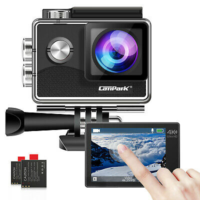 Campark Action Camera 4K 1080P WiFi Camcorder Waterproof Sports Cam Underwater • 34.78£