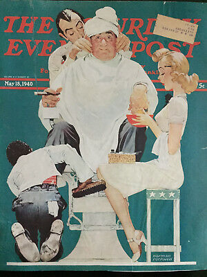 $ CDN51.04 • Buy Saturday Evening Post 5/18/40 COVER ONLY Norman Rockwell  The Full Treatment
