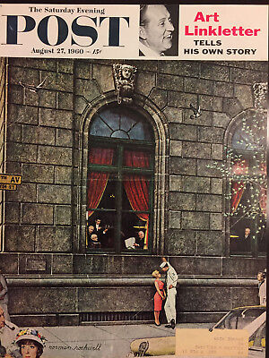 $ CDN21.25 • Buy Saturday Evening Post 1960 COVER ONLY Norman Rockwell  University Club
