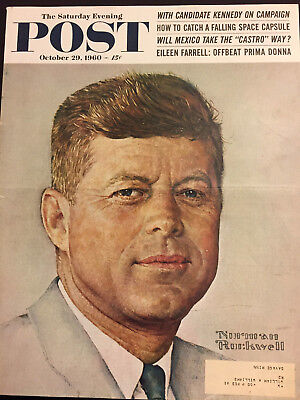 $ CDN25.52 • Buy Saturday Evening Post 10/29/60 COVER ONLY Norman Rockwell John F. Kennedy