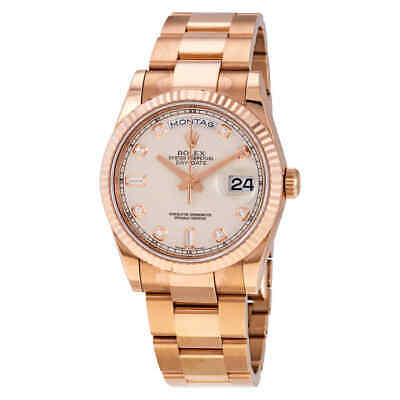 $ CDN40491.90 • Buy Rolex Day-Date Ivory Diamond Dial Automatic 36mm 18kt Everose Gold Oyster Watch
