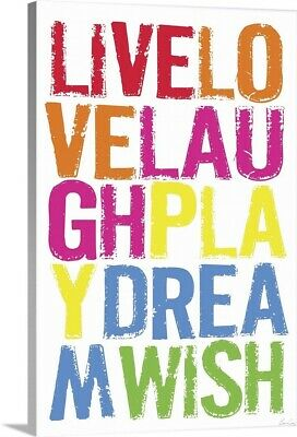 Live Love Laugh Canvas Wall Art Print, Childrens Home Decor • 276.63£