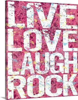 Live Love Laugh Rock Canvas Wall Art Print, Childrens Home Decor • 255.35£