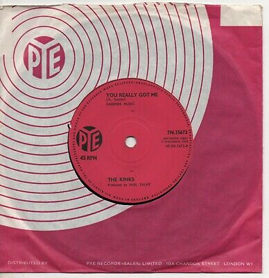 £19.99 • Buy THE KINKS You Really Got Me*it's All Right 1964 UK PYE Solid Centre 45