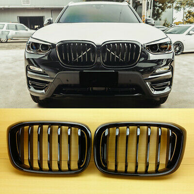 AU140.56 • Buy For BMW X-Series X3 G01 X4 G02 SUV Shiny Black Front Kidney Grille 2019-2022
