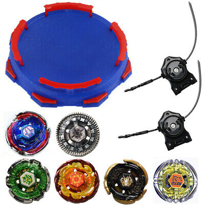 $24.99 • Buy 6x Beyblade Metal Fusion Fury Masters 4D System Tops Toy Set Stadium W/ Launcher