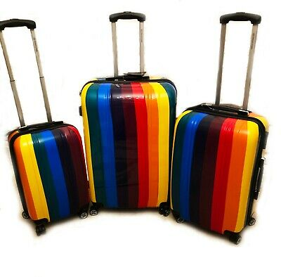 Lightweight Luggage Suitcase Case Cabin Trolley Hard Bag 4 Travel Shell Ryanair  • 49.99£