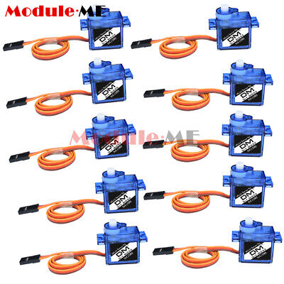 AU15.15 • Buy 10PCS 9G SG90 Mini Micro Servo For Car Boat RC Robot Helicopter Airplane